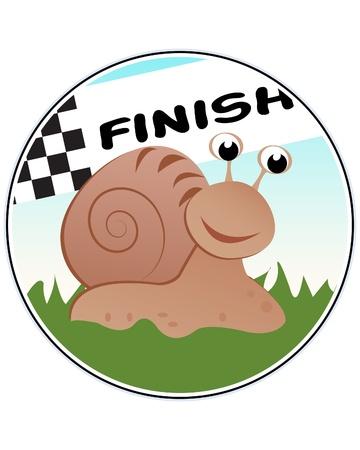 Snail Racer Illustration