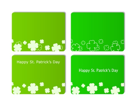 card with clover sillhouettes. isolated on white background. St Patrick's day illustration Stock Vector - 11898011