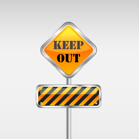 Keep Out Caution Sign. Vector Illustration Vector