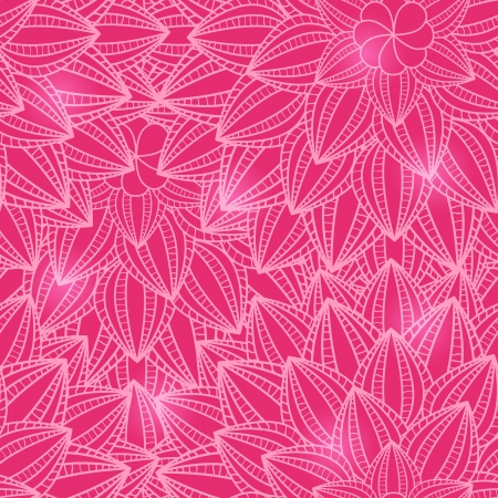Pink Floral Seamless Pattern with Flower Silhouette. Vector Background Illustration