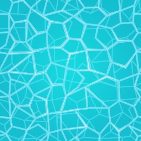 물 표면 원활한 패턴 청록색 벡터 배경