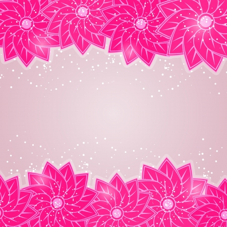Stylish Floral Card on Grey Background. Shiny Vector Illustration Vector