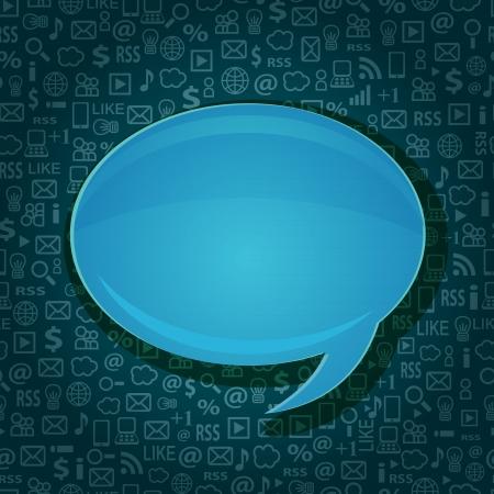 거품 원활한 컴퓨터 기술 배경 귀하의 메시지에 대 한 공간을 복사 채팅
