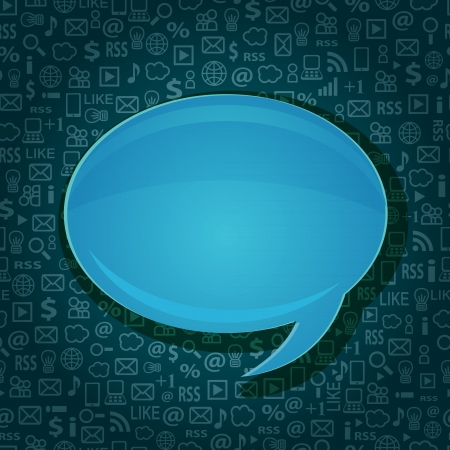 Seamless Computer Technology Background with Bubble Chat Copy Space for Your Message Stock Vector - 20059982