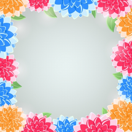 mammy: Floral Frame. Vector Invitation Background with Flowers