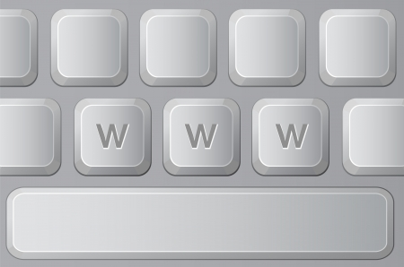 Part of Keyboard with Letters W. Vector illustration Stock Vector - 20059724