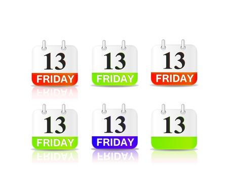 13th: friday 13th calendar icon Illustration