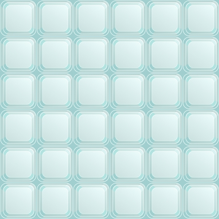 Seamless Pattern with Blue Square Buttons  Vector Background