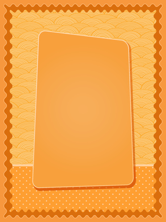 Bright Orange Invitation  Card with Blank Label  Space for Text Vector