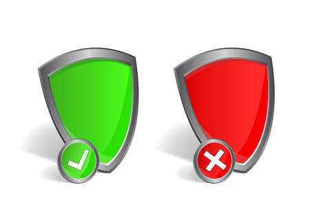 check shield illustration  Isolate on white background illustration