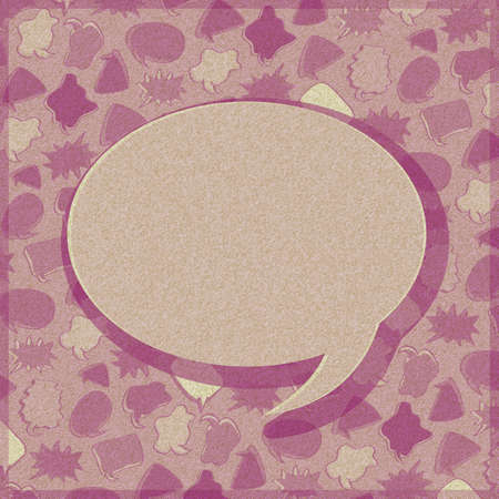 One Toned Speech Sign Bubble Chat Card  Retro Texture photo