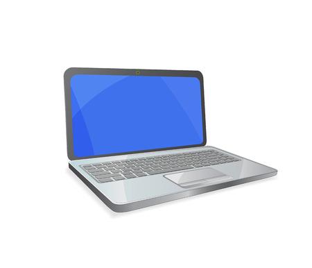 노트북 흰색 배경에 고립