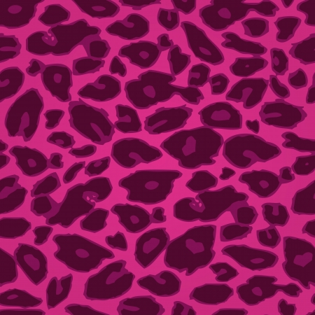 Pink Cheetah Print Seamless Pattern  Vector Animal Background Illustration