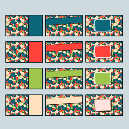 Set of Business Card Templates with Abstract Colorful Pattern. Vector Illustration Stock Vector - 24156737