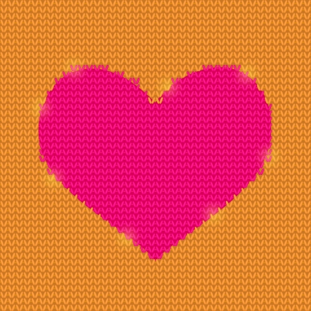 tarjeta amarilla: Coraz�n rosado brillante en Punto Yellow Card Background Valentine