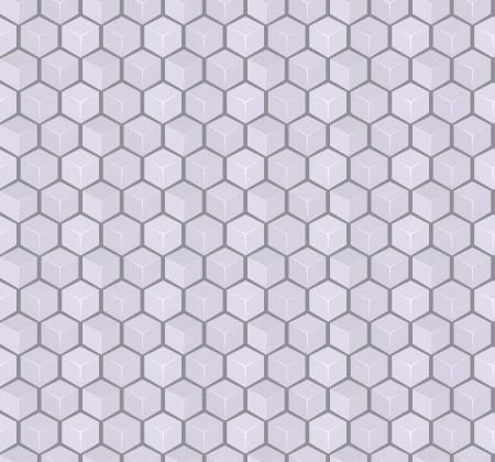 Gray 3d Cube Seamless Pattern  Vector Background Vector