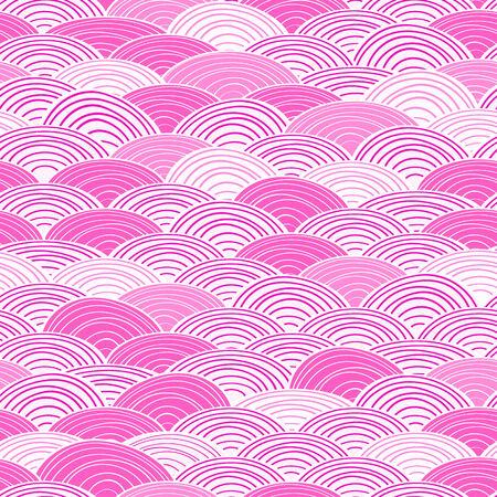 라이트 핑크 원활한 추상 물 패턴 하늘 배경 일러스트