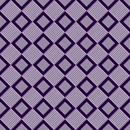 Vector Seamless Pattern with Shading Rhombus and Square. Geometric Tile Background