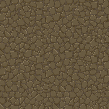 Seamless Pattern of Stone Wall. Vector Illustration