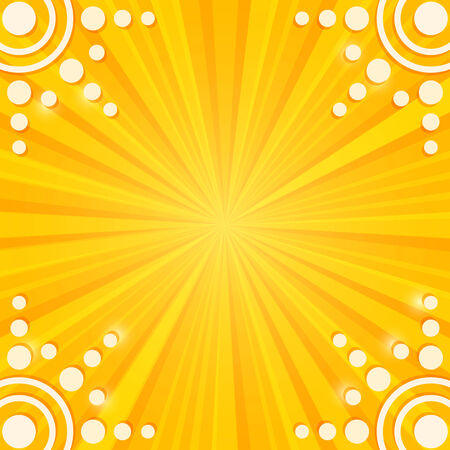 burn out: White Tag Paper Sun on Stripe Yellow Background. Illustration