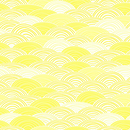 Shiny Light Yellow Seamless Abstract Pattern. Vector Background