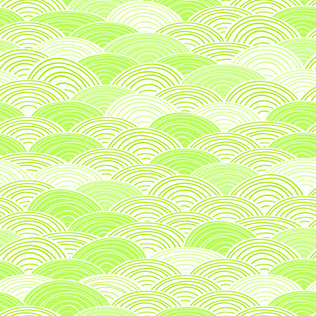 Shiny Light Green Seamless Abstract Pattern. Vector Background