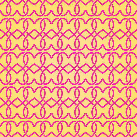Hand Drawn Simple Geometric Seamless Pattern with Heart Silhouettes Illustration