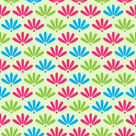 Colorful Floral Stylized Simple Seamless Pattern. Background