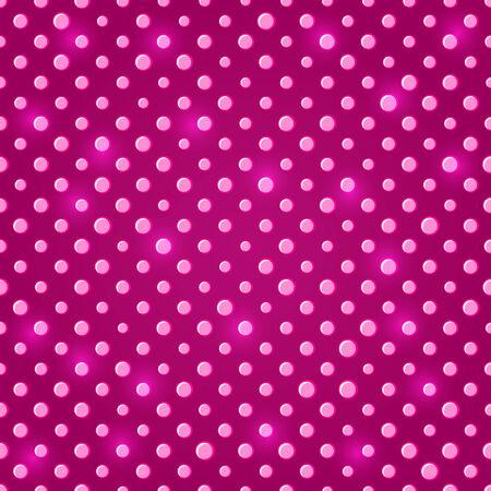다크 핑크 빛나는 물방울 무늬 원활한 패턴 배경