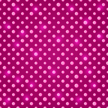 Dark Pink Shiny Polka dot Seamless Pattern Background Illustration