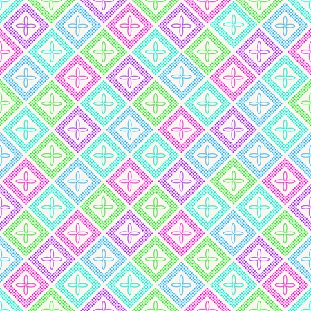 Vector Geometric Seamless Pattern. Tile Rhombus Background Vector