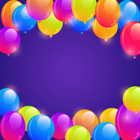 Bright Balloon Frame Background with Copy Space in the Middle