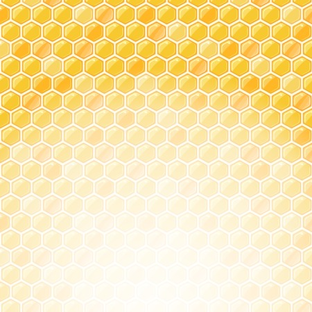 Honeycomb Invitation Card with Place for Text at the Bottom. Illustration