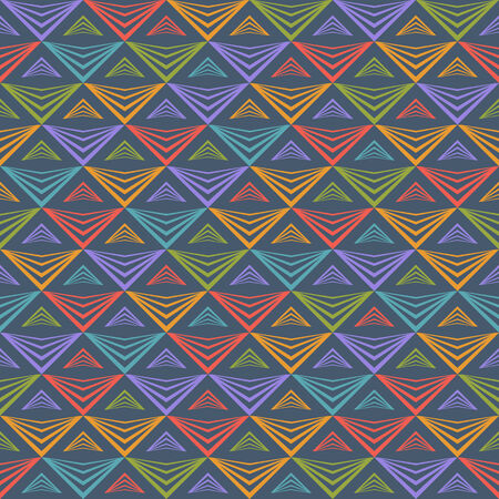 Colorful Seamless Pattern with Triangles. Vector Abstract Geometric Background