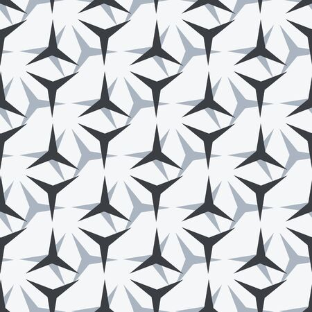 Simple Geometric Seamless Pattern. Vector Background Illustration