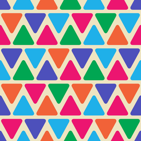 lay out: Abstract Geometric Seamless Pattern with Color Triangle Shapes