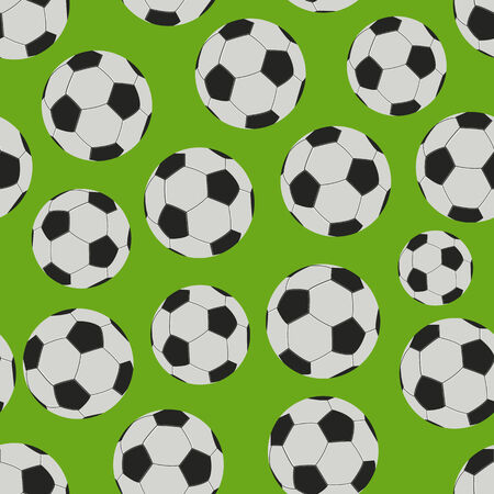 Football Game Seamless Pattern. Vector Background