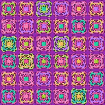 Purple Vector Geometric Seamless Pattern. Tile Rhombus Background Vector