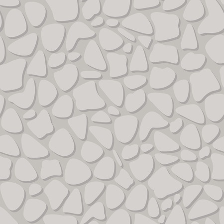 Light Gray Stone Wall Geometric Seamless Pattern. Dotted Structure with Shadow on Gray White Vector Seamless Background.