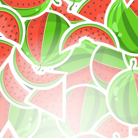 Invitation Card with Sweet Watermelon Pattern and Place for Text