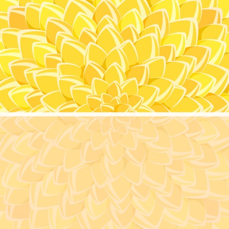 Yellow Flower Backdrop and Copy Space at the Bottom. Invitation Card Illustration