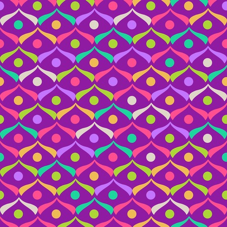 Purple Abstract Geometric Scales Seamless Pattern Illustration
