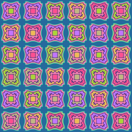 Green Blue Vector Geometric Seamless Pattern. Tile Rhombus Background Illustration