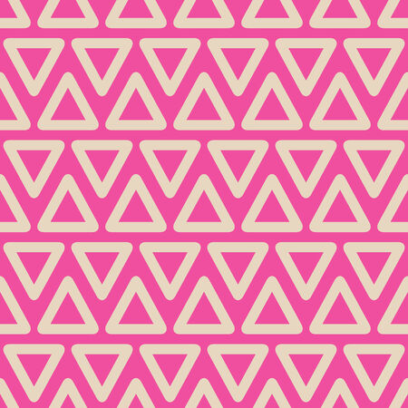 Abstract Geometric Seamless Pattern with Pastel Triangle Shapes Illustration
