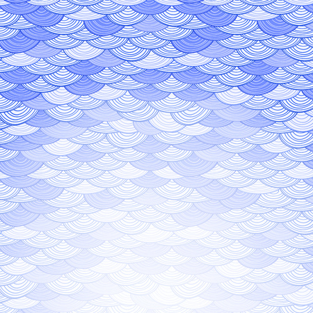 Abstract Background with Stylized Waves. Invitayion Card Illustration