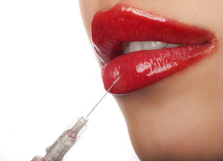 Treatment with botox or hyaluronic collagen HA injection