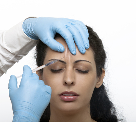 ha: Treatment with botox or hyaluronic collagen HA injection