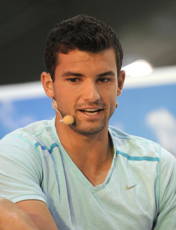 SOFIA-MARCH,29 Bulgarian tennis player Grigor Dimitrov during a press conference before Davis Cup on March 29, Sofia