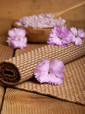 Spa background in the range of brown and pink  photo