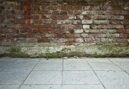 Background of old brick wall texture photo